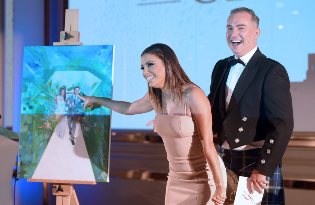Eva Longoria with my painting